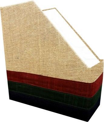 Indha Craft IC Recycled Paper 1 Compartments Card Board, Jute Magazine Holder