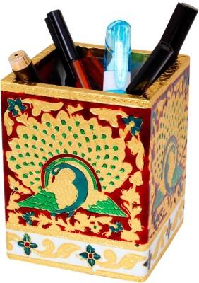 Jaipur Raga 1 Compartments Metal Pen Stand