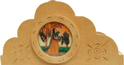 JaipurCrafts Rajasthani 1 Compartments Wooden Napkin Holder