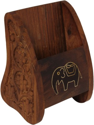 Craft Art India Mobile Stand 1 Compartments Wood Mobile Holder