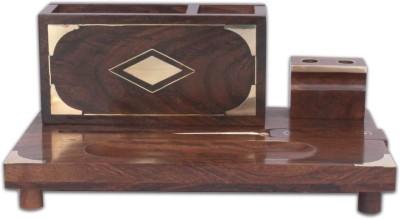 Home Sparkle 4 Compartments Wood Office Desktop Set