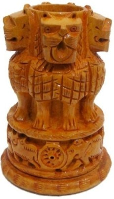 Bajya 1 Compartments Wooden Wooden Pen Stand