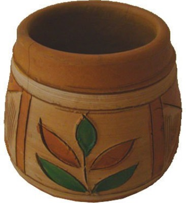 Sasta 1 Compartments Terracotta Pen Stand