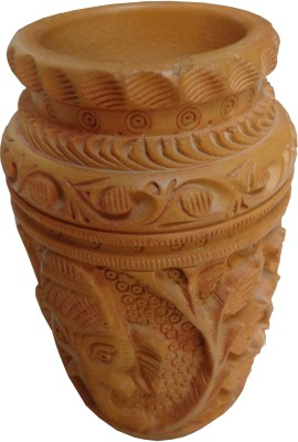 Parvidvap Handicrafts Antique2 1 Compartments Wood Pen Stand
