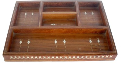 Sheela's Arts&Crafts 5 Compartments Wood Office tray