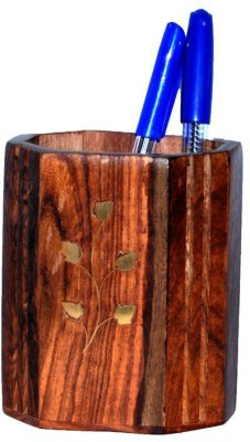 Univ 1 Compartments Wooden Pen Stand