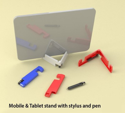 Power Plus 2 Compartments Plastic Mobile & Tablet Stand with stylus and pen