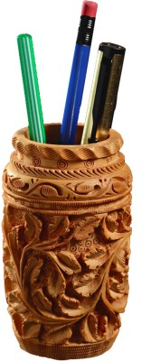 Aapno Rajasthan 1 Compartments Wood Pen Stand