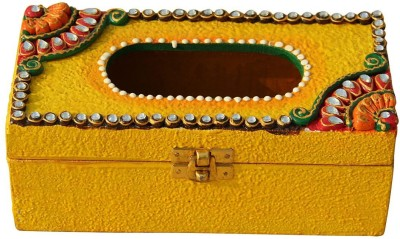 Handicrafts Paradise 1 Compartments Wood Tissue Box