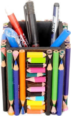 Aahum 1 Compartments Wood Handmade Pen Stand