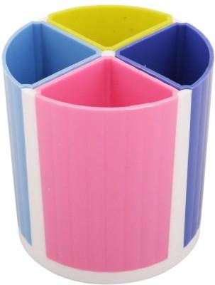 Indigo Creatives 4 Compartments Plastic Pen Stand