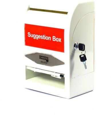 Chrome 1 Compartments Plastic Suggestion Box(Multicolour)
