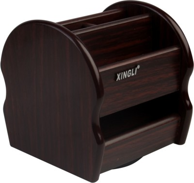 Xingli 6 Compartments Wooden Stationery Holder