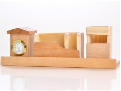 RajLaxmi 4 Compartments Wooden Desk Top