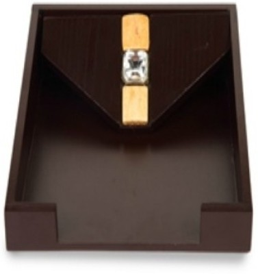 Cocktail Resin 0 Compartments Wooden Napkin Tray