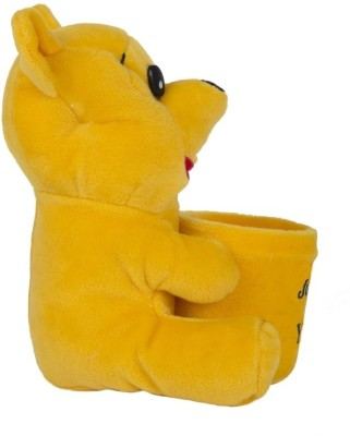 O Teddy Toys 1 Compartments Imported Soft Valvet Pen Stand