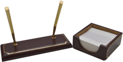 Knott 1 Compartments Wooden Twin Pen holder & slip holder
