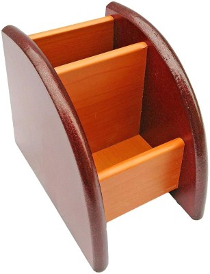 Alishba 2 Compartments wood pen holder