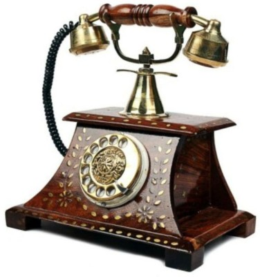 ANTIQUA V GROUP 1 Compartments WOODEN, BRASS telephone