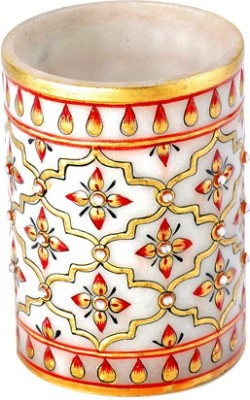Aapno Rajasthan Teracotta 1 Compartments Marble Pen Stand