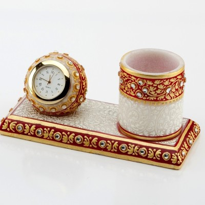 Aapno Rajasthan 1 Compartments Marble Pen Stand