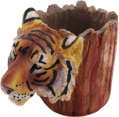 Tootpado 1 Compartments Resin Tiger Animal Design Pen Stand
