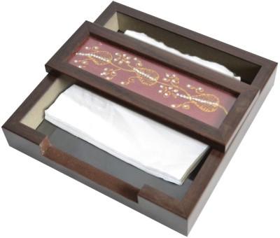 SPECTRAHUT 1 Compartments Acrylic, Glass Napkin Holder