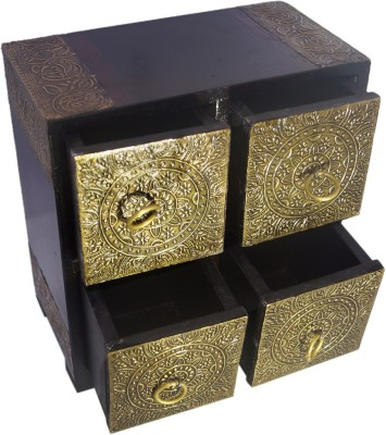 R S Jewels 4 Compartments Wooden NA