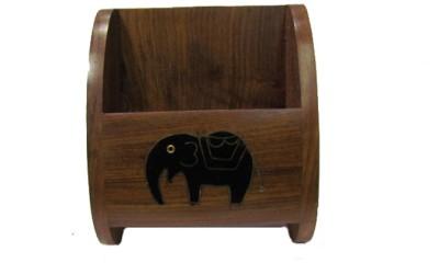 S C Handicrafts Wooden Holder 1 Compartments Wooden, Brass Mobile Holder
