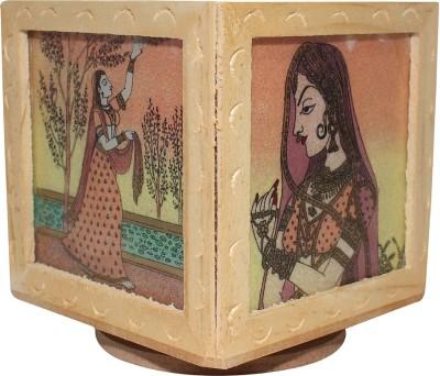 Ranvijay 3 Compartments Wood Pen Stand