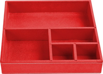 Ecoleatherette Regular 5 Compartments Leatherette Office Tray