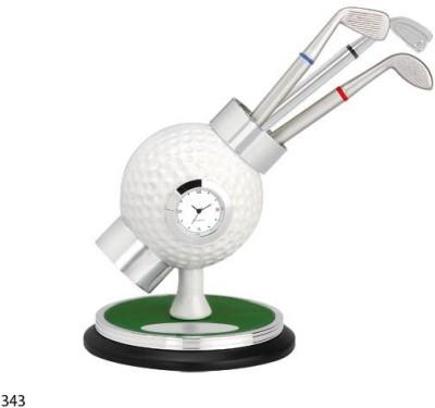 ZED Golf desk clock 1 Compartments Plastic, Alloy Pen Holder