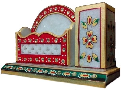 JaipurCrafts Tukins 2 Compartments Marble Pen Stand