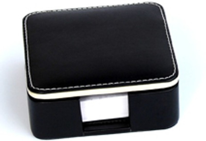 Knott BLU/SL 1 Compartments Faux Leather Plain Slip holder(Black)