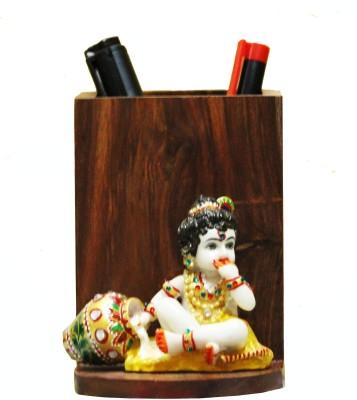 SR Crafts 1 Compartments Wooden Pen Holder