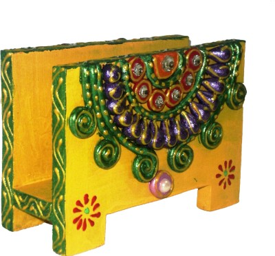 Seema's Craft Creation SCC 1 Compartments MDF Visiting Card/ Paper napkin holder