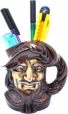 Handecor Designer Shakespeare 1 Compartments Brass Pen Stand