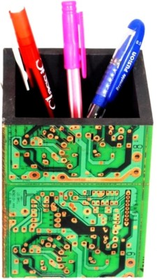 Aahum 1 Compartments Wood, Electric Circuit Board Pen Stand