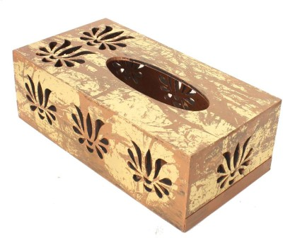 Home Sparkle 1 Compartments Engineered Wood Tissue box