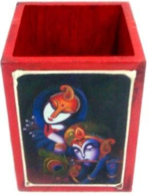 Bajya Ufc1hcf445 1 Compartments Wood Pen Holder