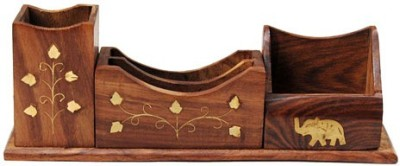 Decorhand 1 Compartments Wood Pen Mobile Holder