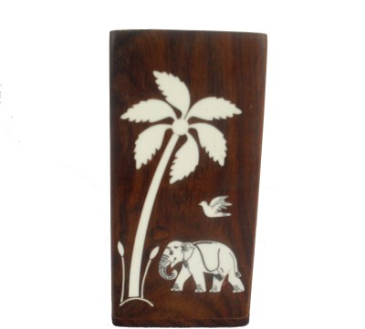 Sheela's Arts&Crafts 1 Compartments Wood Pen stand