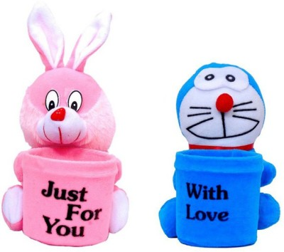 Ewi Stuffed 1 Compartments Plastic, Febric Pen Stand