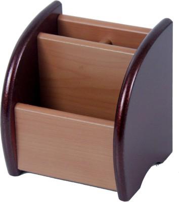 KBE Annatto 3 Compartments Wooden Pen Holder