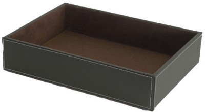 Howards Drawer Organizer 1 Compartments Faux Leather Multipurpose Tray