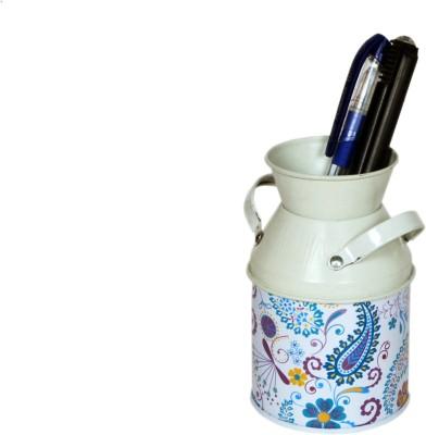 Kulture Label Milk Cane 1 Compartments Iron Pen Holder Milk Cane