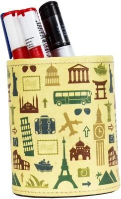 Thecrazyme Retro Travel 1 Compartments Eco-Friendly leatherette Pen Stand