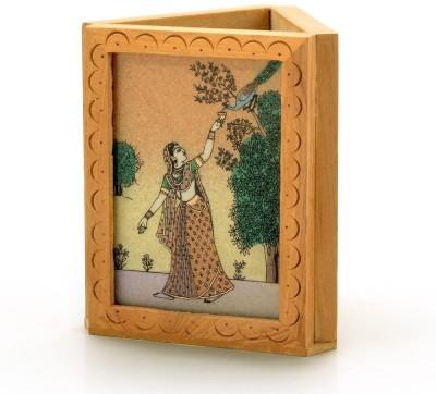 Shree Sai 1 Compartments Wooden Pen Stand