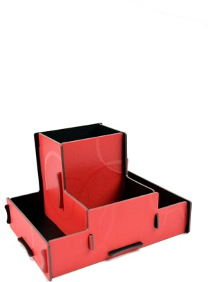 Enfin Homes Diy 4 Compartments Wooden Stationery Stand