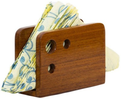 D,sign Lab 1 Compartments Wooden Tissue Paper Holder